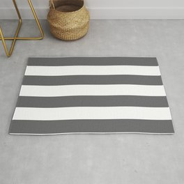 Simply Striped in Storm Gray and White Rug