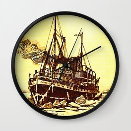Ice-breaker Wall Clock