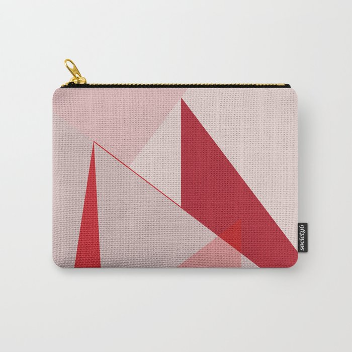 Geometric pink 02 Carry-All Pouch