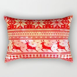 Reindeer Sweater Color Option Rectangular Pillow