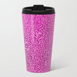 Water Condensation 05 Purple Travel Mug
