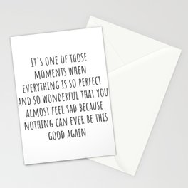 Perfect Moment Stationery Cards