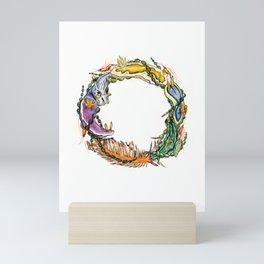 Wreath of Seaslugs Mini Art Print