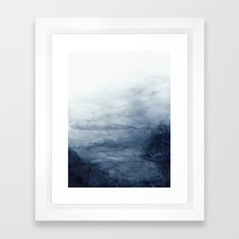 Indigo Abstract Painting | No.2 Framed Art Print