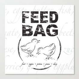 FEED BAG/Black & White Canvas Print