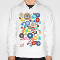 contemporary Hoodies featuring Contemporary Circles by Ruth Fitta Schulz