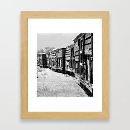 Old livestock train.   Framed Art Print