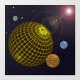 3D Planets Canvas Print