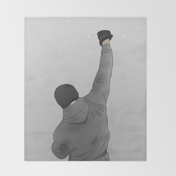 Rocky Balboa Throw Blanket