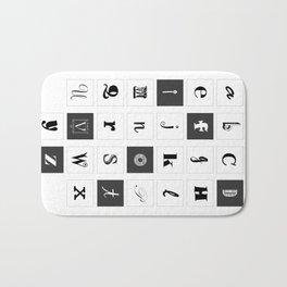 Alphabet Print Bath Mat