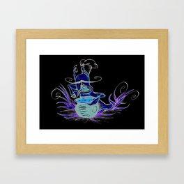 snail cartoon Framed Art Print