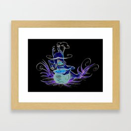 snail cartoon Framed Art Print