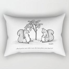Forgetful Squirrel Rectangular Pillow
