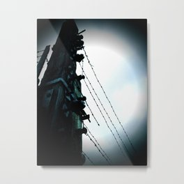 Birkenau fences Metal Print