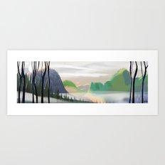 Hillscape Art Print