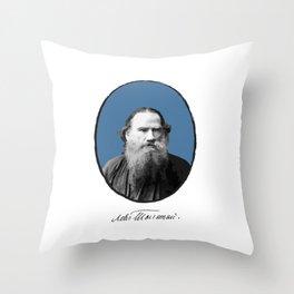 Authors - Lev Tolstoj Throw Pillow
