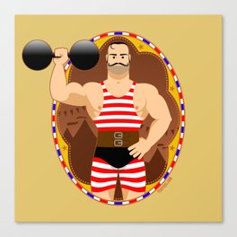 Circus strongman Canvas Print