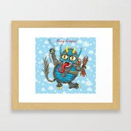 Merry Krampus! Framed Art Print