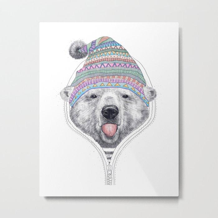 The Bear in a hood Metal Print