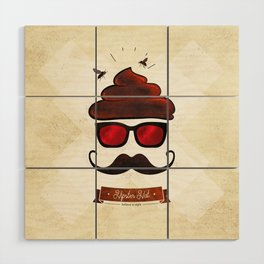 Hipster Hat Wood Wall Art