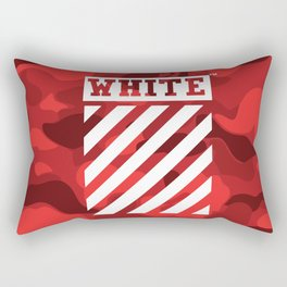 Off-White Bape Camo Red Rectangular Pillow