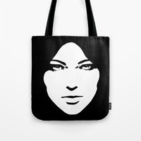 woman Tote Bags featuring Woman by Sventine