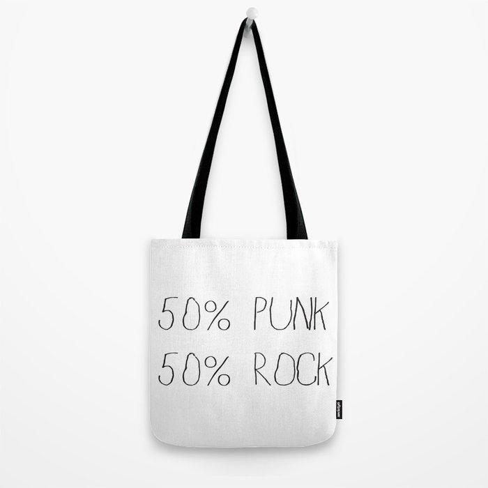 50% Punk 50% Rock Tote Bag