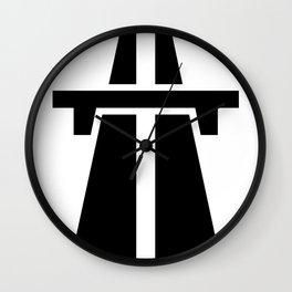 Freeway, Motorway, Autobahn - Black Wall Clock