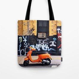 Orange Scooter Tote Bag