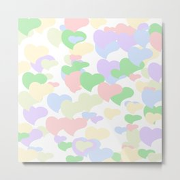 Colorful hearts Metal Print