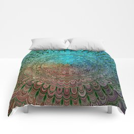Cold Metal Flower Mandala Comforters