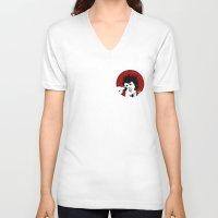 punk rock V-neck T-shirts featuring punk rock elvis by atelierilluminaire