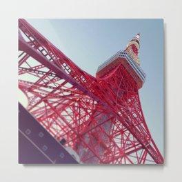 Tokyo Tower Rising Metal Print