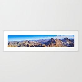 Wetterhorn Peak Panorama Art Print
