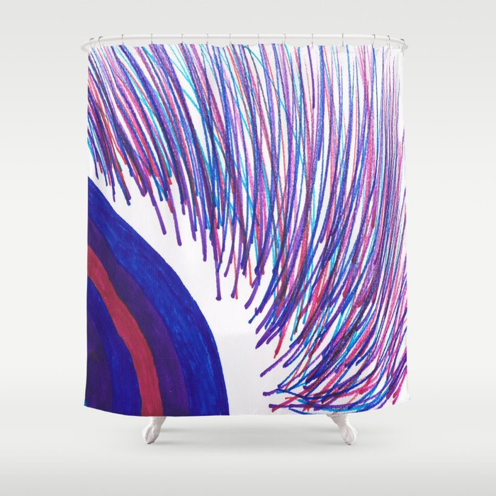 Color frisbee Shower Curtain