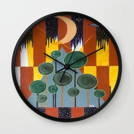 Lights in the Sky #2 Wall Clock