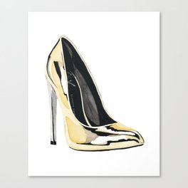 Gold Pump Canvas Print
