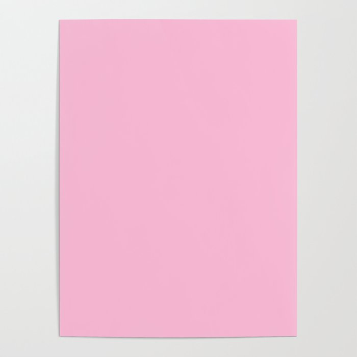 d401b568ab36a From The Crayon Box – Cotton Candy Pink - Pastel Pink Solid Color Poster by  simplysolids