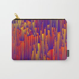 Fiery Rain - Pixel Abstract Art Carry-All Pouch