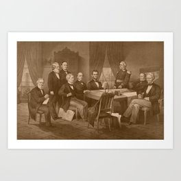 President Lincoln, His Cabinet, and General Scott Art Print