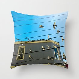 Doves and Wire#3 Throw Pillow