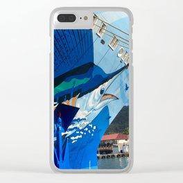 Norwegian Cruise Swordfish Clear iPhone Case