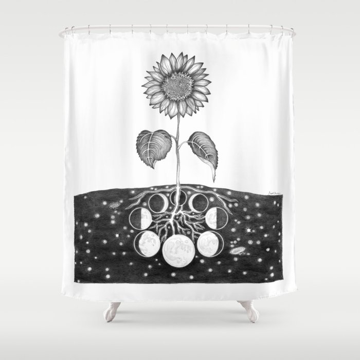 Prāṇa (Life Force) Shower Curtain