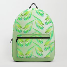 Garlands of leaves in lime green Backpack