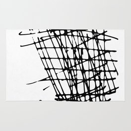 Sketch Black and White Rug