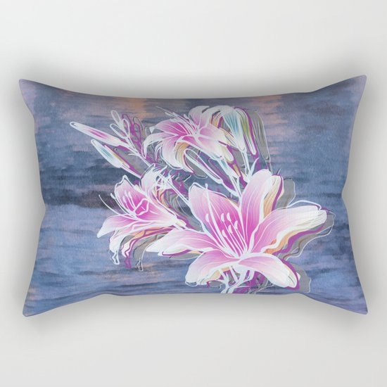 Variation of flowers - Sunset Rectangular Pillow