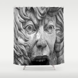The Face of Fire Shower Curtain