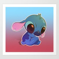 stitch Art Prints featuring Stitch! by Matsuo Amon