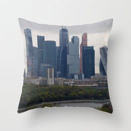 Moscow Highrises Throw Pillow