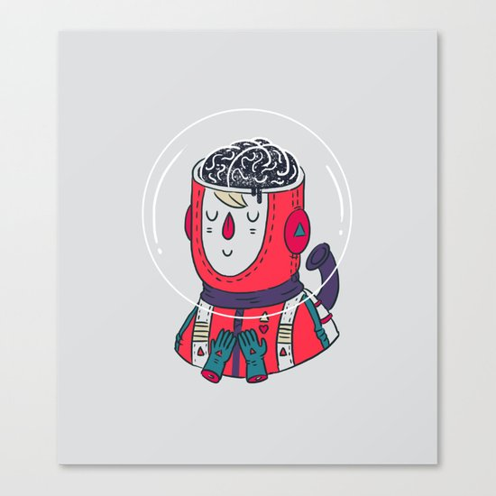 Space On The Brain Canvas Print